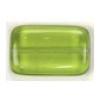 Glass Bead Flat Rectangle 19x12mm Olivine - Strung